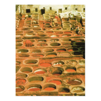 North Africa, Tannery, Marrakesh, Morocco Postcard