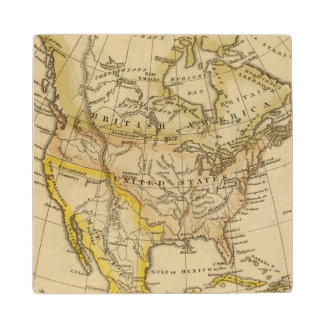 North America 10 2 Wood Coaster