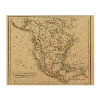 North America 10 2 Wood Print