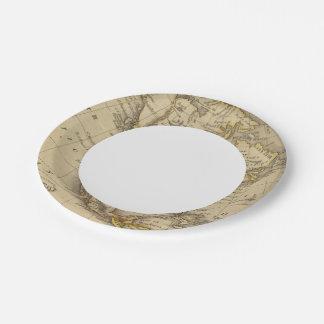 North America 10 Paper Plate