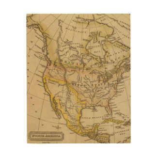 North America 10 Wood Wall Decor