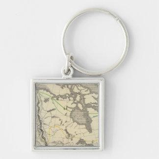 North America 11 Key Ring