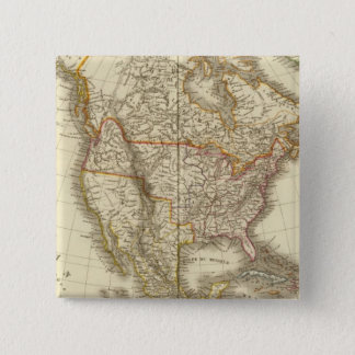 North America 13 15 Cm Square Badge