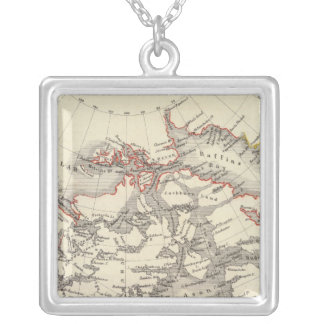 North America 13 Silver Plated Necklace