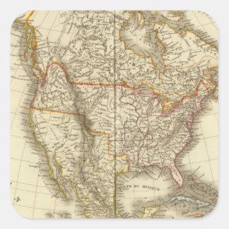 North America 13 Square Sticker