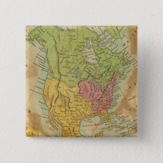 North America 15 15 Cm Square Badge