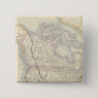 North America 15 Cm Square Badge