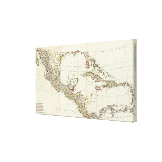 North America 1763 Boundaries Canvas Print