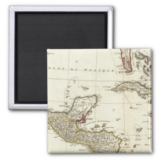 North America 1763 Boundaries Magnet