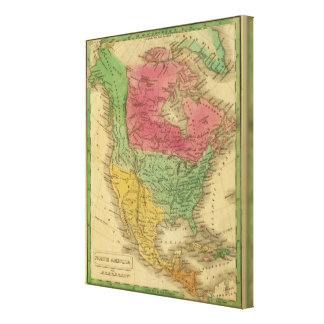 North America 17 Stretched Canvas Print