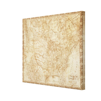 North America 1804 Stretched Canvas Print