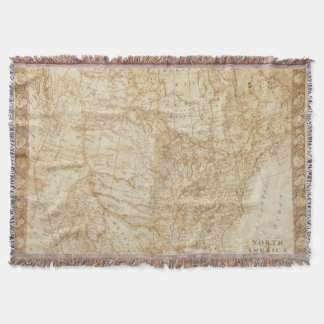 North America 1804 Throw Blanket