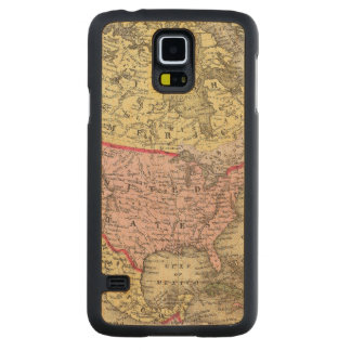 North America 18 Carved Maple Galaxy S5 Case