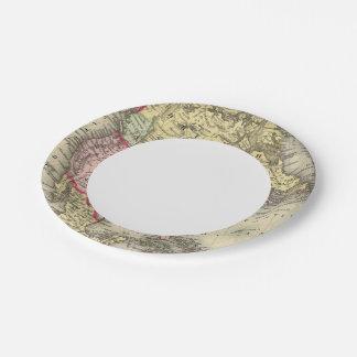 North America 18 Paper Plate