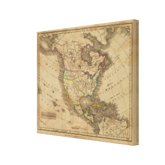 North America 19 Stretched Canvas Prints