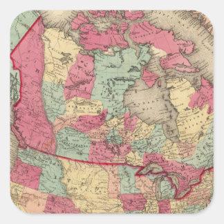 North America 19 Square Sticker