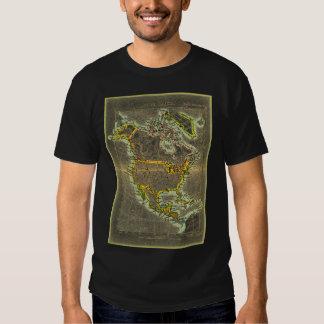 North America 19th Century map tshirt