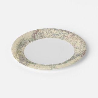 North America 20 Paper Plate