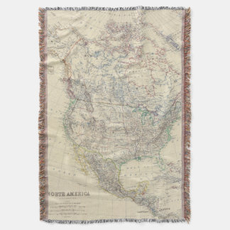 North America 20 Throw Blanket