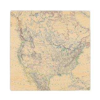 North America 20 Wood Coaster