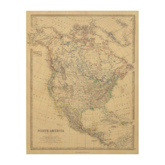 North America 20 Wood Print
