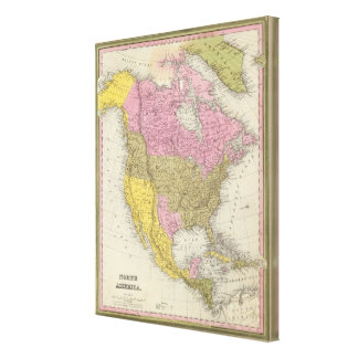 North America 21 Stretched Canvas Print