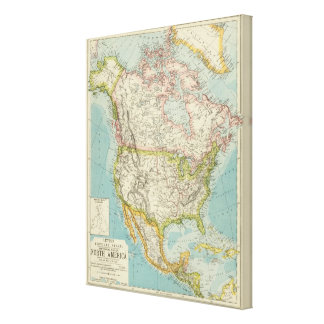 North America 23 Stretched Canvas Print