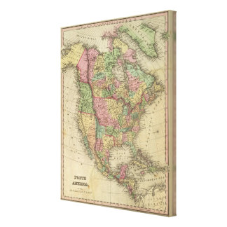 North America 23 Stretched Canvas Prints