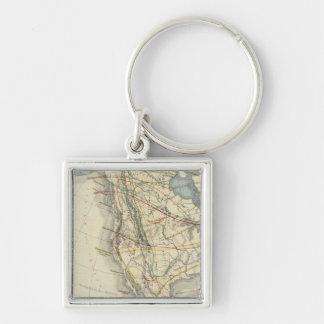 North America 24 Key Ring