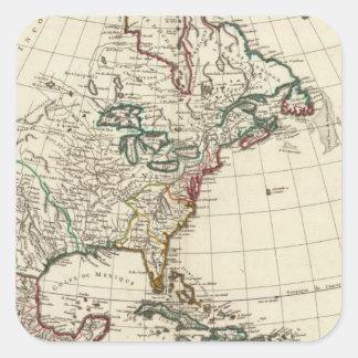North America 24 Square Sticker