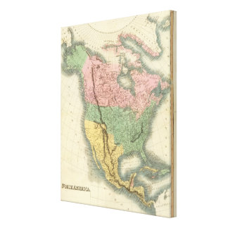 North America 25 Gallery Wrapped Canvas