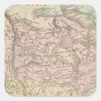North America 25 Square Sticker