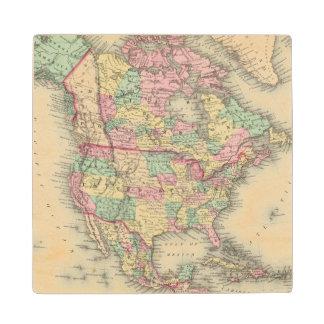 North America 27 Wood Coaster