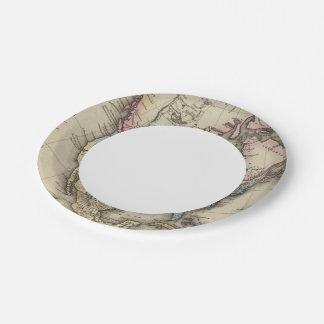 North America 29 Paper Plate