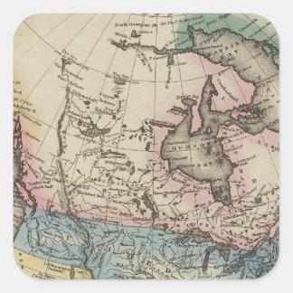 North America 29 Square Sticker