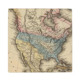 North America 29 Wood Coaster