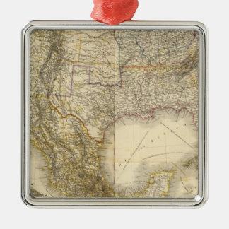 North America 32 Silver-Colored Square Decoration