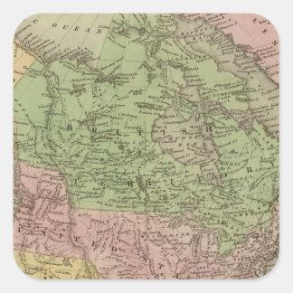 North America 32 Square Sticker