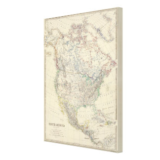 North America 33 Stretched Canvas Print
