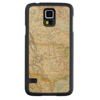 North America 34 Carved Maple Galaxy S5 Case