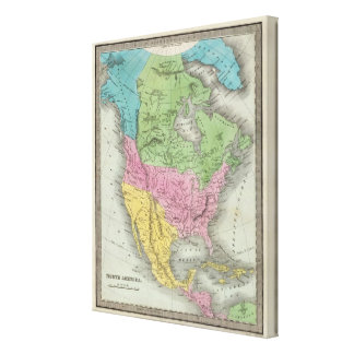 North America 35 Stretched Canvas Print