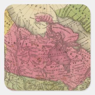 North America 36 Square Sticker