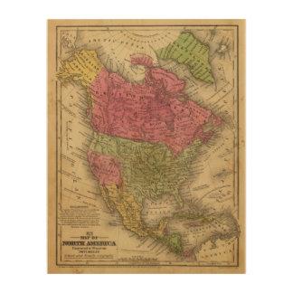 North America 36 Wood Wall Art