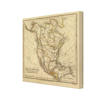 North America 3 Stretched Canvas Print