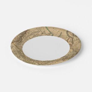 North America 3 Paper Plate
