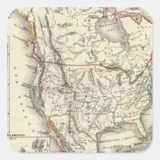 North America 41 Square Sticker