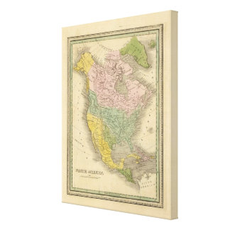 North America 42 Stretched Canvas Prints