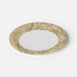 North America 44 Paper Plate