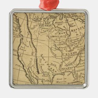 North America 44 Silver-Colored Square Decoration