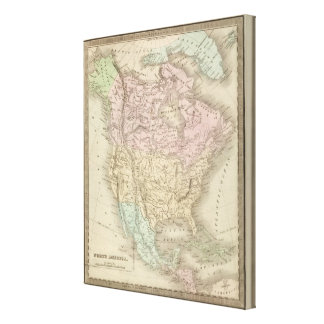 North America 45 Gallery Wrap Canvas